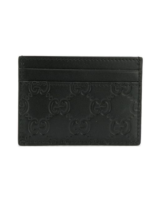 885e228196b2 ... Gucci - Black Signature Card Case for Men - Lyst ...