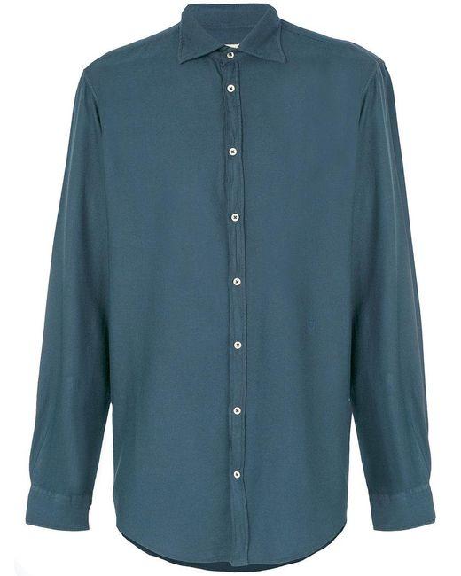Massimo Alba - Blue Collared Shirt for Men - Lyst
