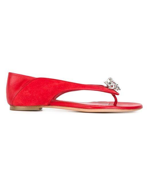 Alexander McQueen   Red King And Queen Skull Sandals   Lyst