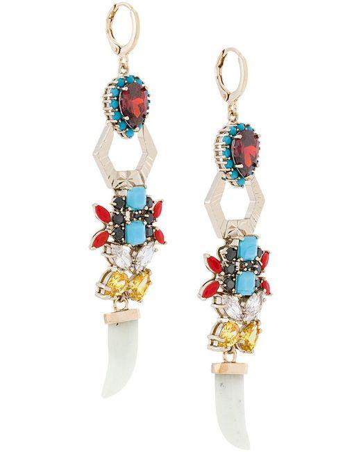 Iosselliani - Multicolor Elegua Earrings - Lyst