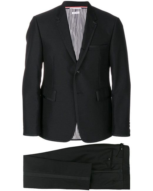 Thom Browne - Black Grosgrain Tipping Tuxedo With Bow Tie for Men - Lyst