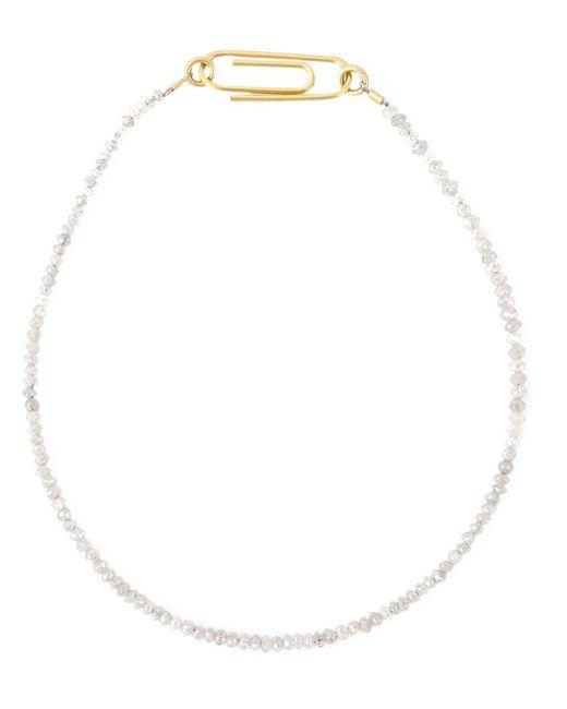 Uzerai Edits | Metallic String Diamond Bracelet | Lyst