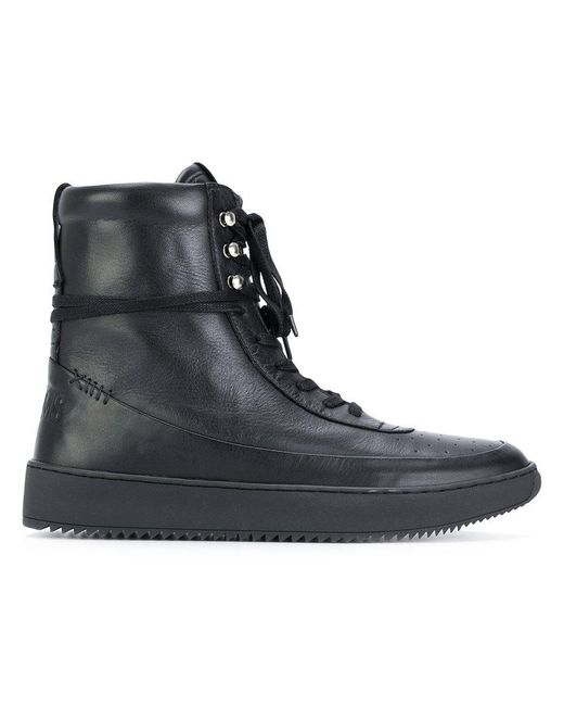 Newams | Black Hi-top Lace Up Sneakers for Men | Lyst