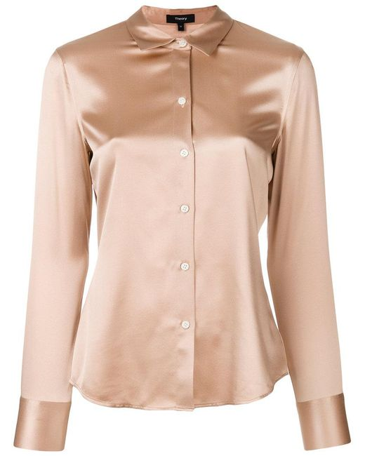 Theory - Pink Long Sleeve Shirt - Lyst