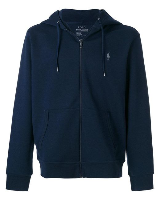 Polo Ralph Lauren | Blue Zipped Hooded Sweater for Men | Lyst