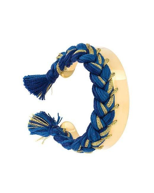Aurelie Bidermann | Blue Braided Cuff Bracelet | Lyst