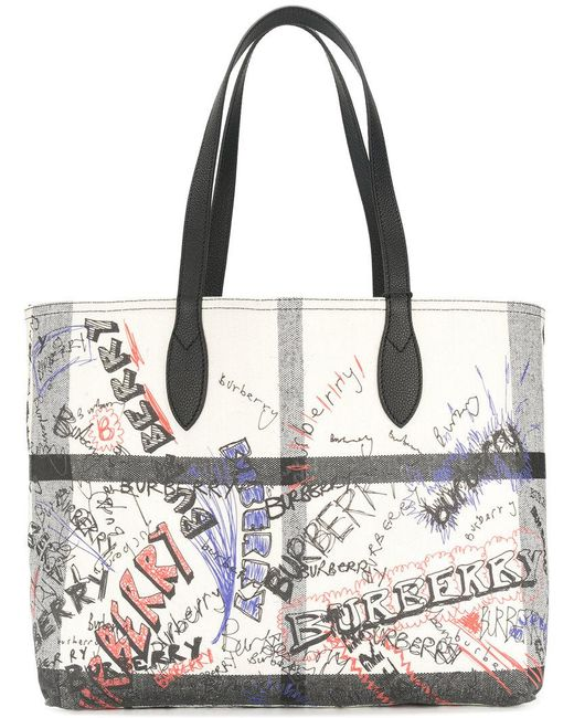 Burberry | White Giant Reversible Tote | Lyst