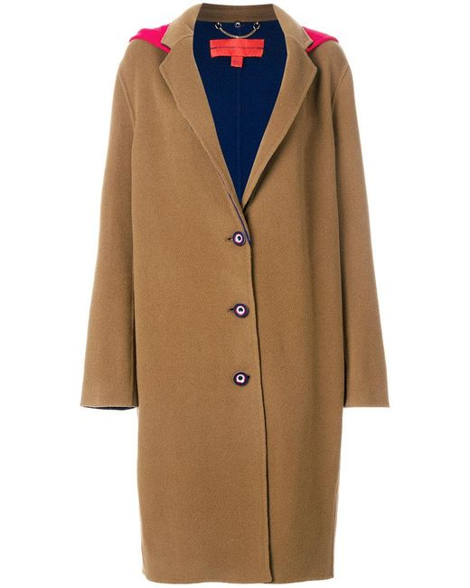 Tommy Hilfiger | Brown Double Face Wool Coat | Lyst