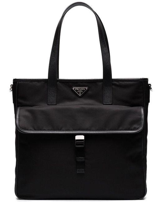 215070253346 Prada - Black Two Pocket Tote Bag for Men - Lyst ...