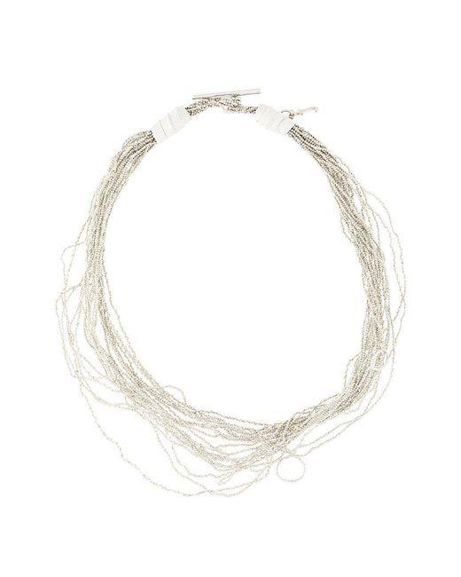 Fabiana Filippi - Metallic Multi Strand Necklace - Lyst