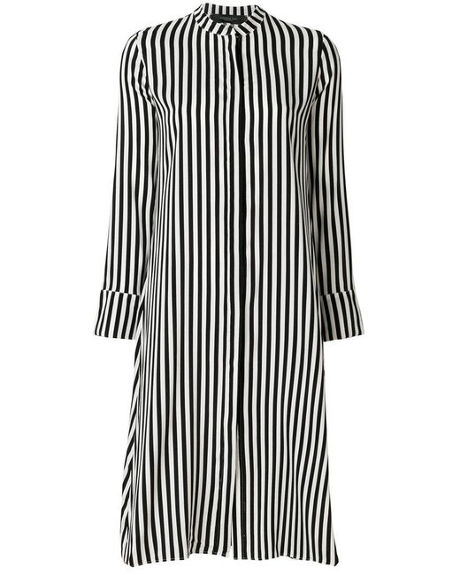 FEDERICA TOSI - Black Striped Midi Dress - Lyst