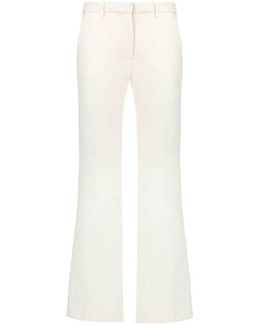 L'Autre Chose - White Straight-leg Trousers - Lyst