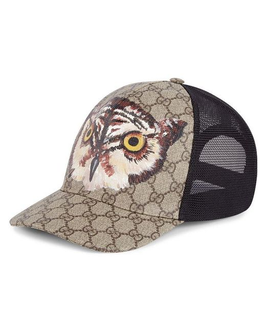 Gucci - Multicolor Owl Print GG Supreme Baseball Hat for Men - Lyst b08eeabaa219