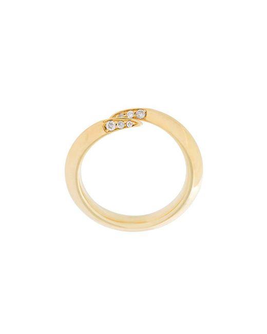 Shaun Leane - Metallic 'signature Tusk' Diamond Wrap Ring - Lyst