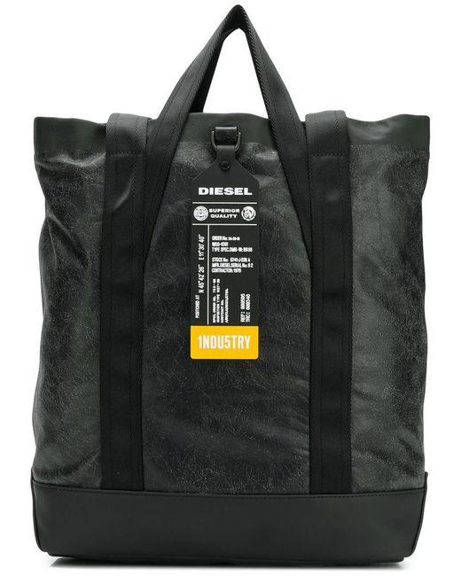 DIESEL - Black Volpago Tote Bag for Men - Lyst
