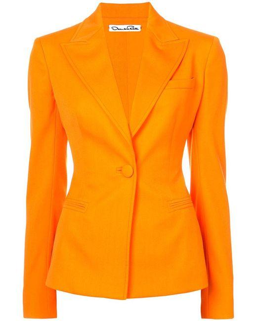 Oscar de la Renta | Orange Fitted Blazer | Lyst