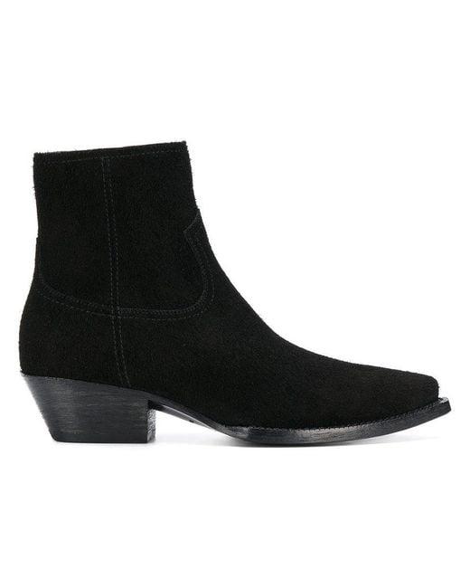 Saint Laurent - Black Ankle Boots - Lyst