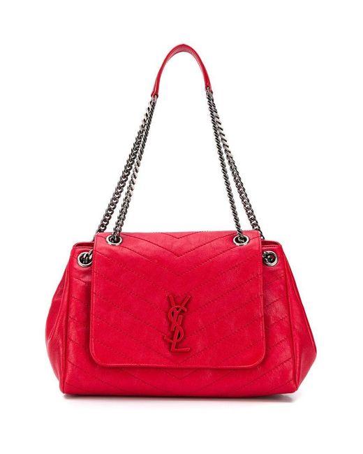 Saint Laurent - Red Medium Nolita Bag - Lyst ... 4b6a768a7343a