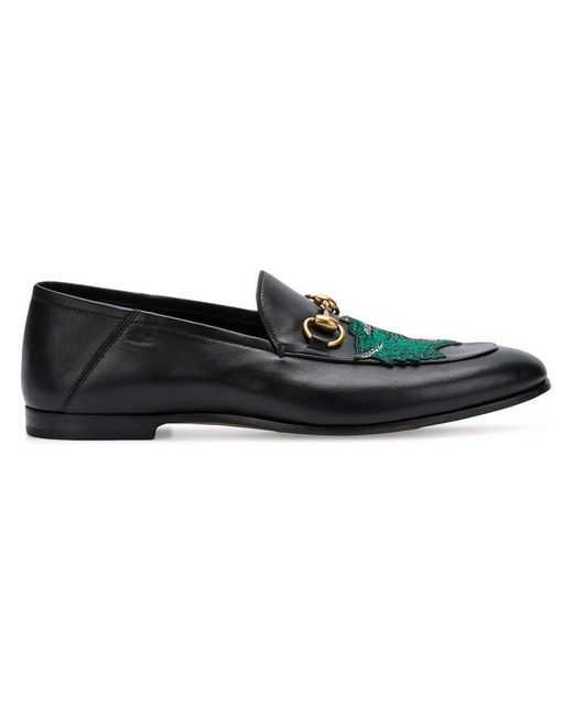 b05258d5a23 Gucci - Black Panther Face Loafers for Men - Lyst ...