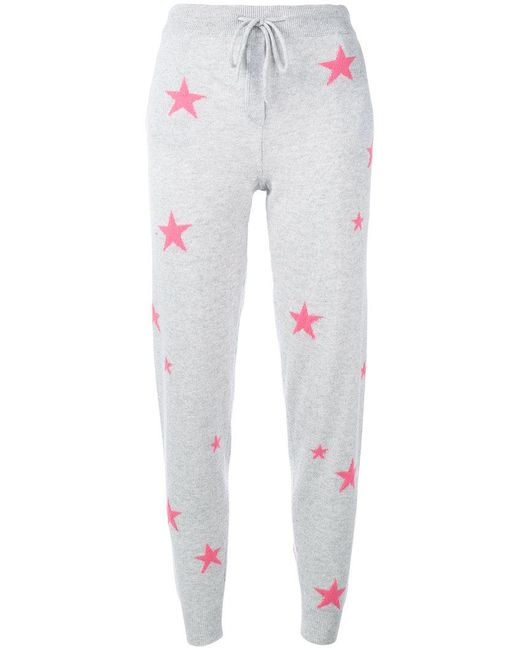 Chinti & Parker - Gray Cashmere Star Print Joggers - Lyst
