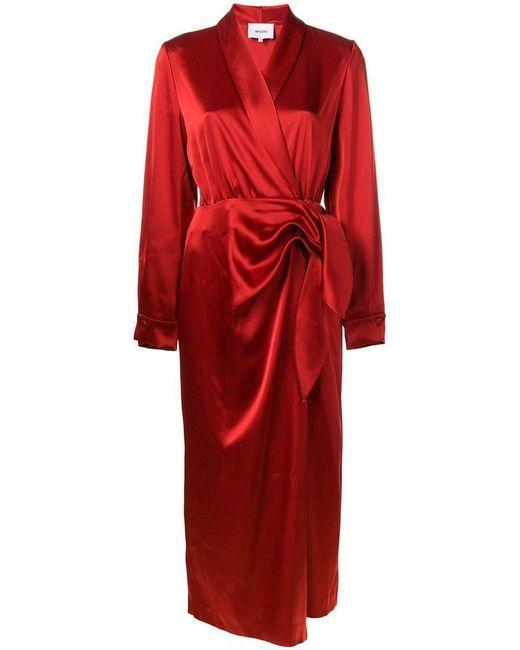 Nanushka - Red Ezra Wrap Dress - Lyst