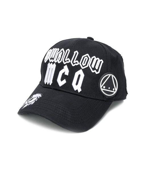 c019dff94 McQ Alexander McQueen - Black Logo Patch Cap for Men - Lyst ...