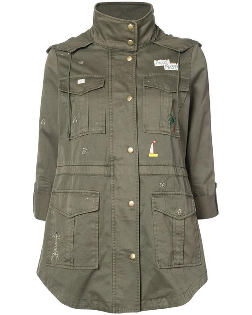 Joie   Green Single Breasted Coat   Lyst