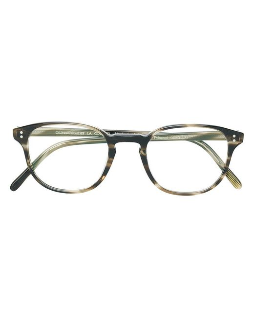922b93a9f59 Oliver Peoples - Brown Fairmont Square Frame Glasses - Lyst ...