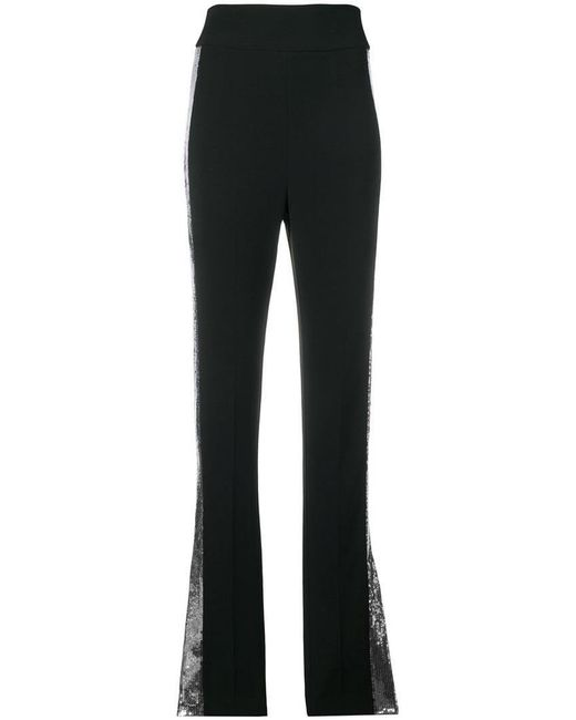 David Koma - Black Contrast Sequin Side Trousers - Lyst