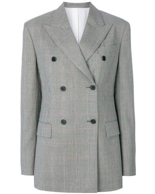 Calvin Klein   Black Double-breasted Tweed Blazer   Lyst