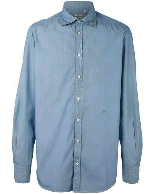 Massimo Alba | Blue Striped Button Down Shirt for Men | Lyst