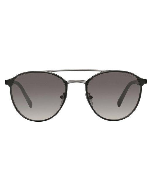 0bb33d629555 Prada - Black Mirrored Carbon Sunglasses for Men - Lyst ...