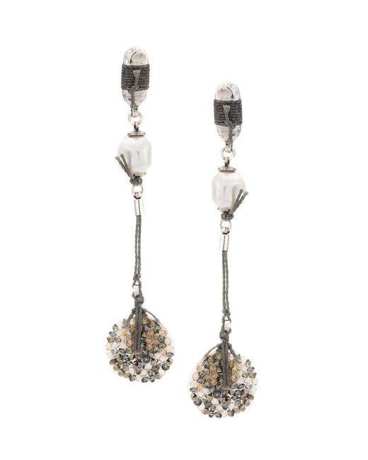 Camila Klein - Metallic Drop Earrings - Lyst