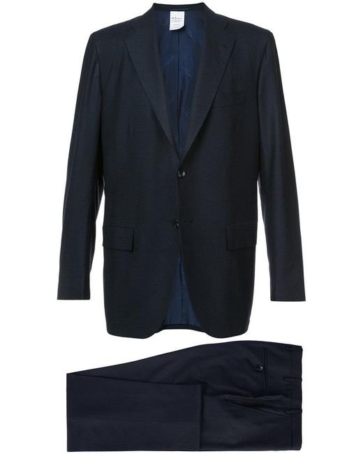 Kiton | Blue Two Piece Suit for Men | Lyst