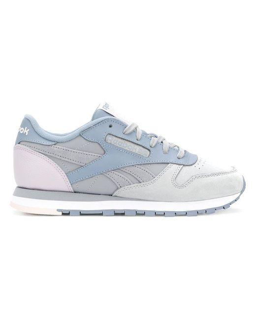 Reebok - Gray Classic Colour-block Sneakers - Lyst