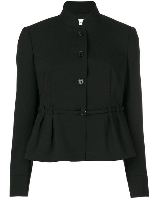 RED Valentino | Black Gathered Waist Jacket | Lyst