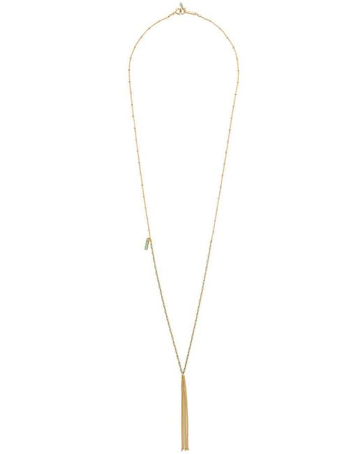 Isabel Marant - Metallic Jade Necklace - Lyst