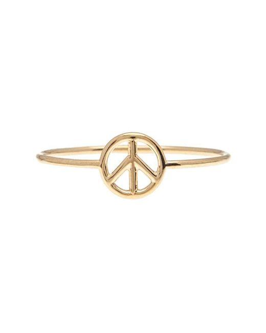 Aurelie Bidermann | Metallic 18kt Gold Peace Sign Ring | Lyst