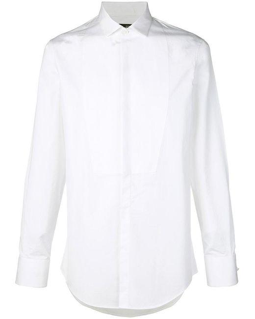 DSquared² - White Classic Tuxedo Shirt for Men - Lyst