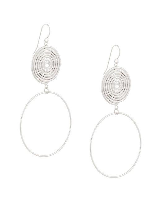 Petite Grand - Metallic Sun And Moon Espiral Earrings - Lyst