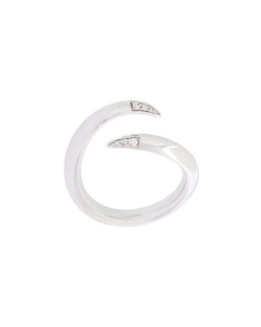 Shaun Leane - Metallic 'signature Tusk' Diamond Open Ring - Lyst