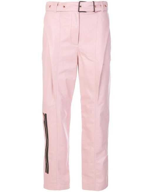 Proenza Schouler   Pink Zip Detail Trousers   Lyst