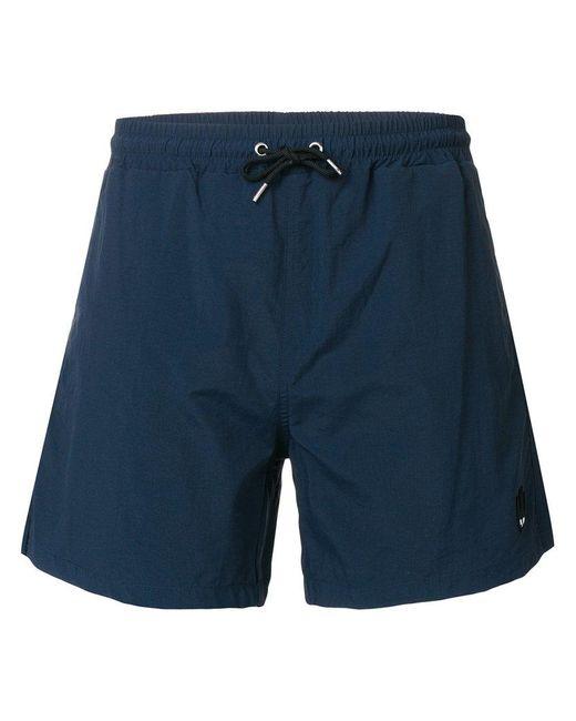 McQ Alexander McQueen - Blue Swallow Bagde Swim Trunks for Men - Lyst