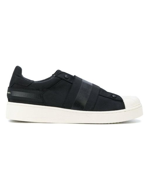 MOA | Black Elasticated Strap Sneakers for Men | Lyst
