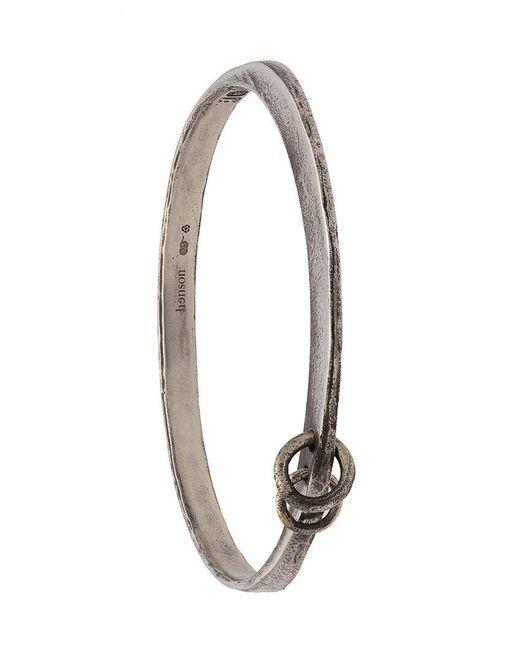 Henson - Metallic Linked Bangle - Lyst