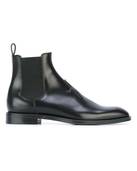 Givenchy - Black Star Patch Chelsea Boots for Men - Lyst
