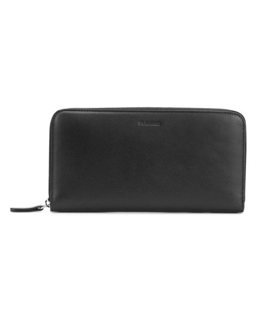 Jil Sander - Black All Around Zip Wallet for Men - Lyst