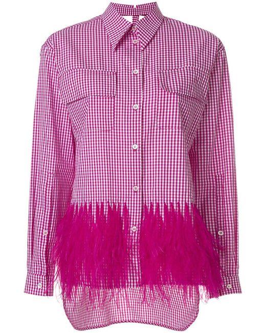N°21 - Pink Embellished Gingham Shirt - Lyst