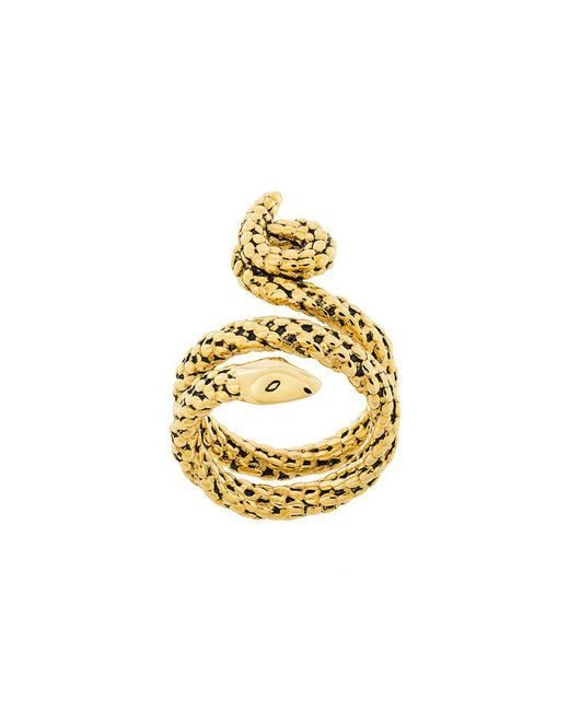 Aurelie Bidermann - Metallic Wrap-around Snake Ring - Lyst