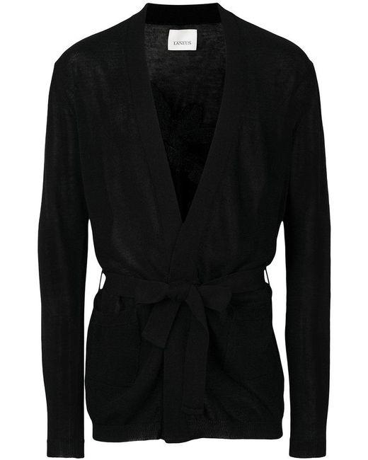 Laneus - Black Tie-waist Cardigan for Men - Lyst